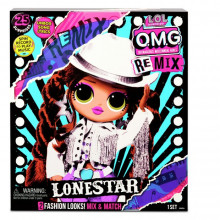 LOL Surprise OMG Remix lelle Lone Star, 23 cm