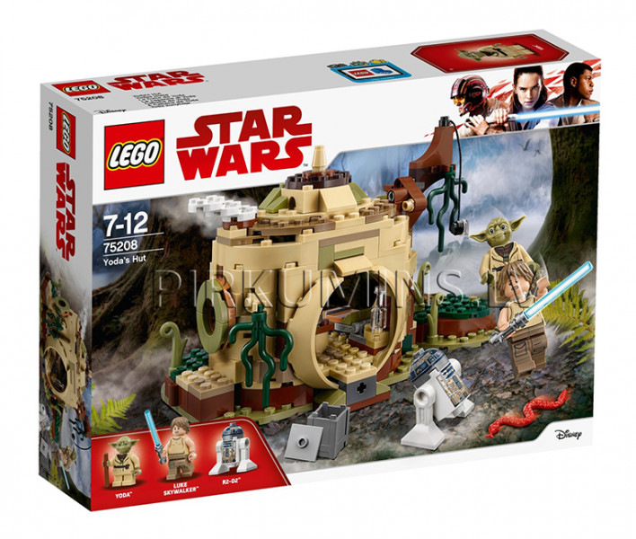 75208 LEGO® Star Wars Yoda's Hut, no 7 līdz 12 gadiem NEW 2018!