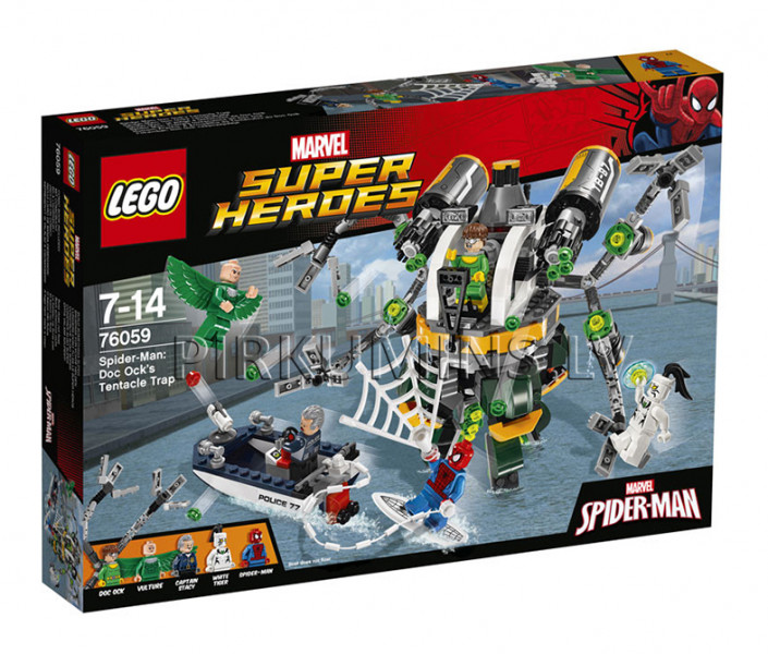 76059 LEGO Super Heroes Spider-Man: Doc Ock's Tentacle Trap, no 7 līdz 14 gadiem